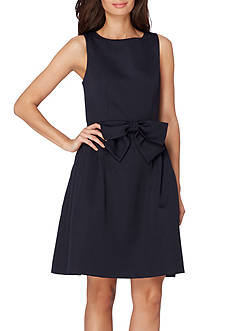 Tahari ASL Sleeveless Fit and Flare Bow Dress