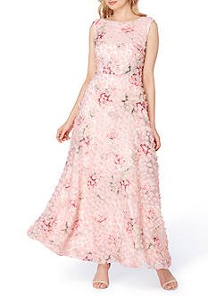 Tahari ASL Novelty Floral Gown