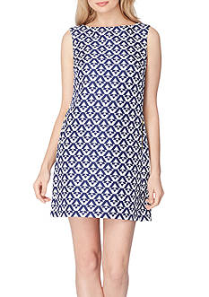 Tahari ASL Jacquard Print Shift Dress