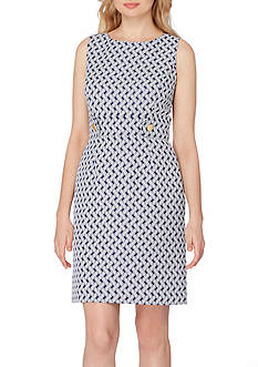 Tahari ASL Jacquard Printed Sheath Dress