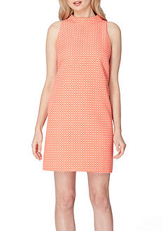 Tahari ASL Shift Mock Neck Dress