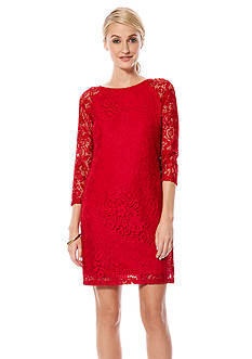 Laundry by Shelli Segal Allover Lace Shift Dress