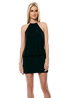 Laundry by Shelli Segal Blouson Jersey Halter Dress