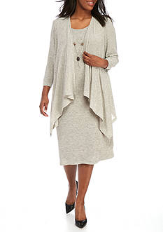 RM Richards Plus Size Flyaway Jacket Dress