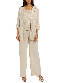 RM Richards Banded Lace Duster Pant Set