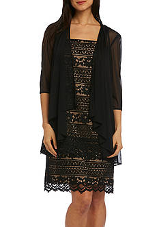 RM Richards Corded Lace Jacket Dress