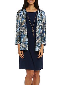 RM Richards Printed Jacket Dress