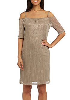 RM Richards One-Piece Cold Shoulder Dress