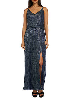 RM Richards Festival Crinkle Shoulder Slip Dress