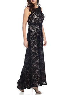 RM Richards Long Lace Gown