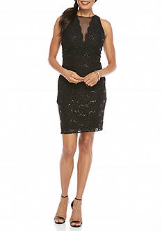 RM Richards Lace and Sequin Cocktail Dress