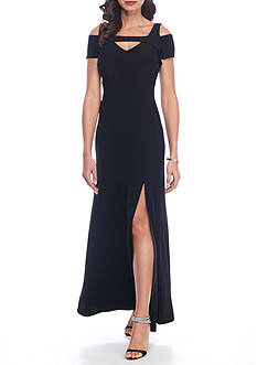 RM Richards Cold Shoulder Jersey Gown