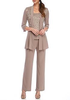 RM Richards Sparkle Lace Three Piece Pant Set