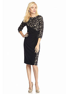 RM Richards Sequin and Lace Sheath Dress
