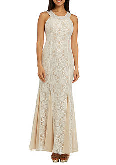 RM Richards Lace Halter Gown