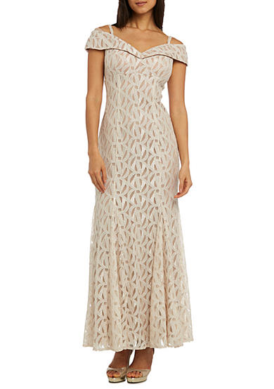Gold and white dresses for juniors