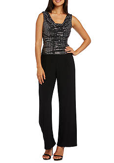 RM Richards Metallic Knit Jumpsuit
