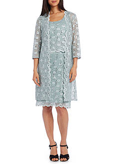 RM Richards Scallop Lace Coat Dress