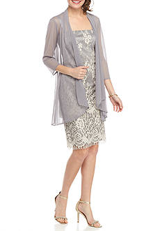 RM Richards Lace Sheer Jacket Dress