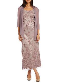 RM Richards Chiffon Lace Jacket Dress