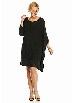 RM Richards Plus Size Poncho Dress