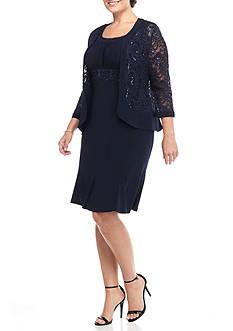 RM Richards Plus Size Jacket Dress