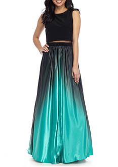 Betsy & Adam Long Ombre Gown