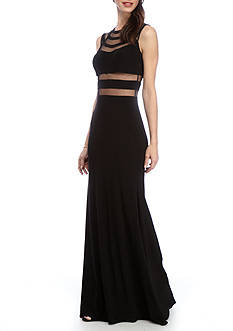 Betsy & Adam Long Mesh Gown