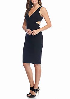 Betsy & Adam Cutout Back Sheath Dress