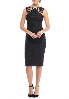 Betsy & Adam Sparkle Knit Strappy Dress