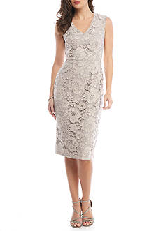 Maggy London Lace Midi Sheath Dress