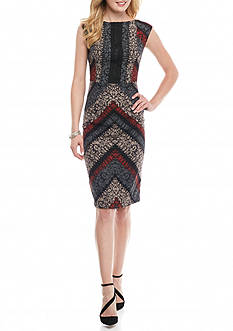 Maggy London Chevron Printed Sheath Dress