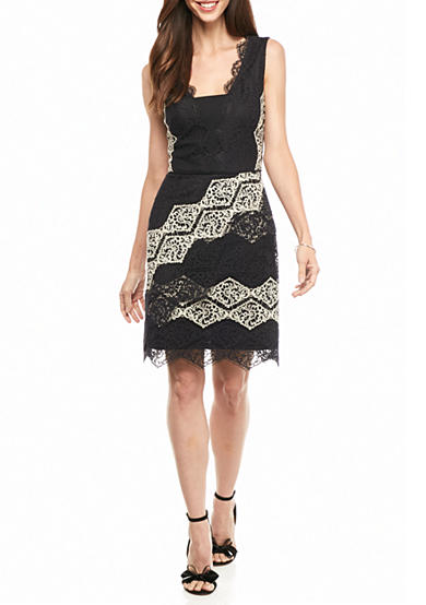 Maggy London Lace Fit and Flare Dress