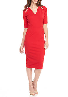 Maggy London V-Neck Sheath Dress
