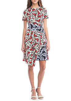 Maggy London Floral Jersey Dress