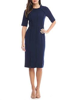 Maggy London Short Sleeve Sheath Dress