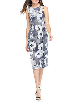 Maggy London Magnolia Printed Scuba Sheath Dress