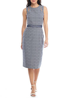 Maggy London Floral Sheath Dress