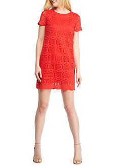 Maggy London Petal Lace Shift Dress
