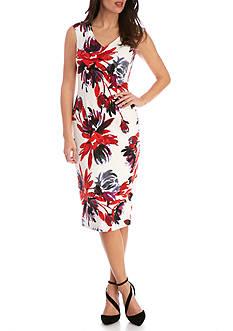 Maggy London Garden Blossom Textured Sheath Dress