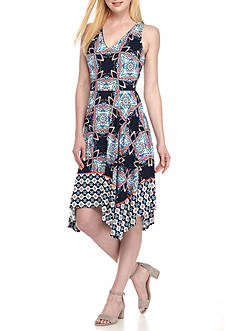 Maggy London Printed Fit and Flare Dress