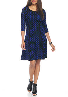 Taylor Dot Printed Sweater Dress