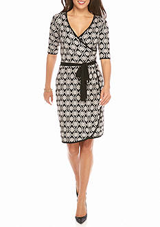 Taylor Faux Wrap Sweater Dress