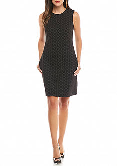Taylor Jacquard Knit Sheath Dress