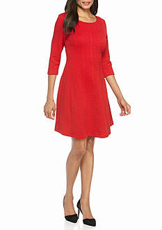 Taylor Jacquard Fit and Flare Dress