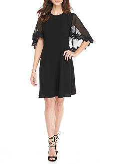 Taylor Flutter Sleeve Trapeze Dress
