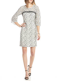 Taylor Bell Sleeve Lace Dress
