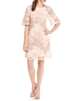 Taylor Embroidered Lace Shift Dress