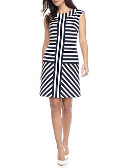 Taylor Striped Drop Waist Dress