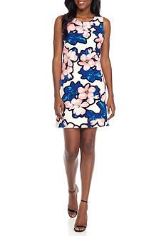 Just Taylor Crepe Floral A-Line Dress